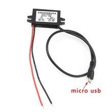 Module de convertisseur de courant continu de voiture 12V à 5V amplificateur de puissance de sortie Micro USB 3A 15W