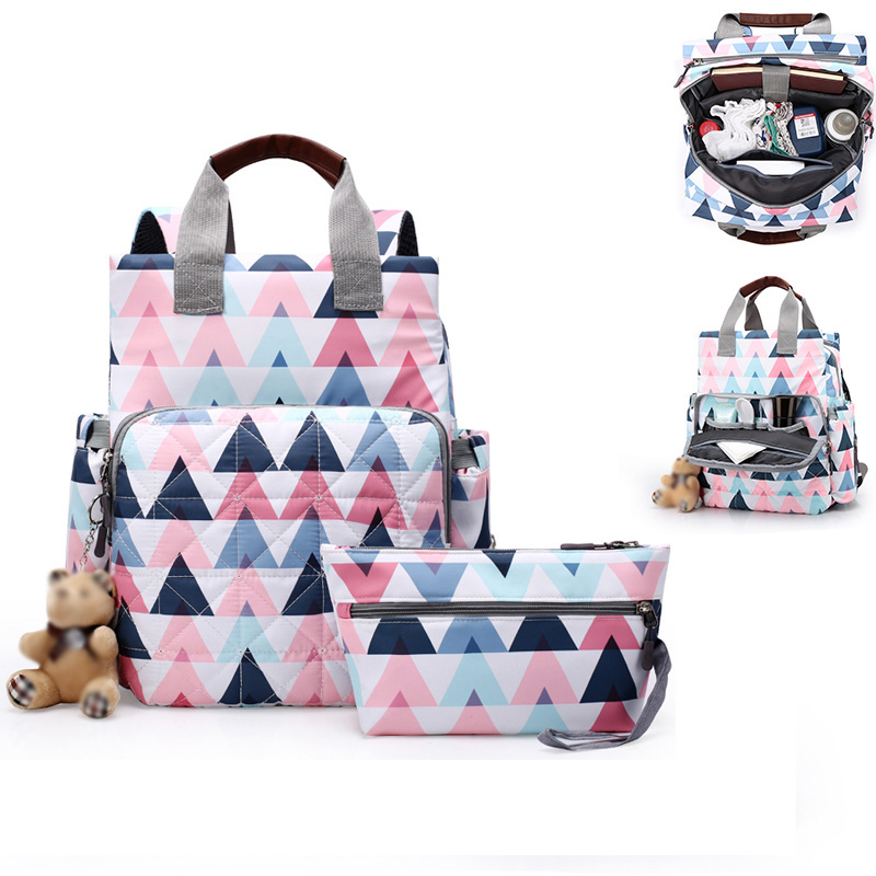 Fashion Mummy Maternity Nappy Bag Large Capacity Baby Diaper Bag Travel Backpack Designer Nursing Bag For Baby Care Bag