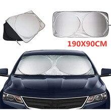 190x90CM Universal UV Protection Shield  Front Rear Car Window Sunshade Sun Shade Visor Windshield Cover Auto Car  Anti Snow Ice