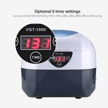 Цифровой ультразвуковой очиститель для маникюра, инструменты для ногтей, стерилизатор, стерилизатор, оборудование для дизайна ногтей из нержавеющей стали, машина для дезинфекции