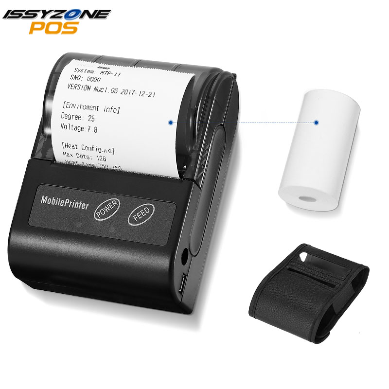 Bluetooth Receipt Printer 58MM Portable POS Mini Printer Thermal Bill Taxi Printer 58mm For Andirod IOS Windows Phone Printing