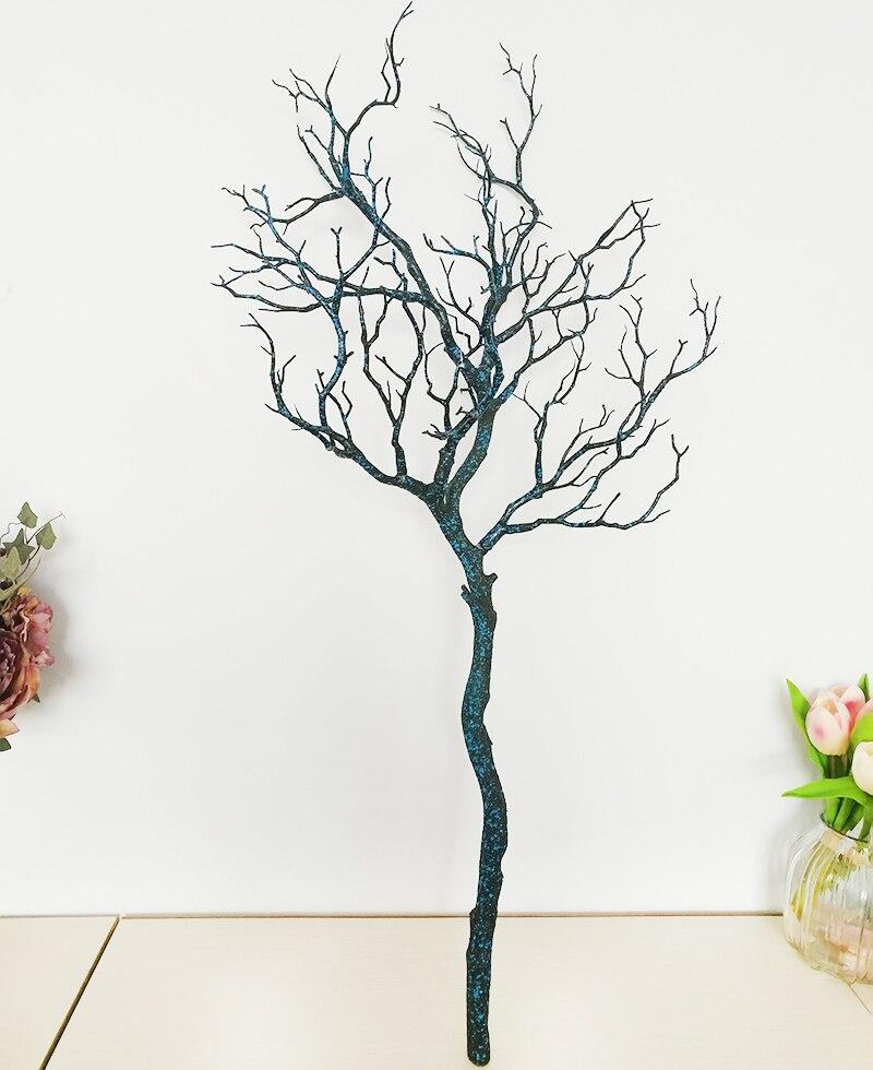 1 шт. искусственные черно-белые ветви деревьев пластик Коралл искусственные цветы для дома свадебные декоративные сушеные ветви деревьев H90CM - Цвет: Черный