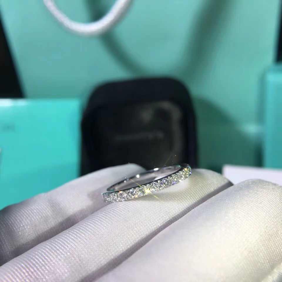 18 K สีขาวทอง Deputy แหวน DF สี Moissanite แหวน Lab เพชรหมั้นแหวนเครื่องประดับแหวนหาง