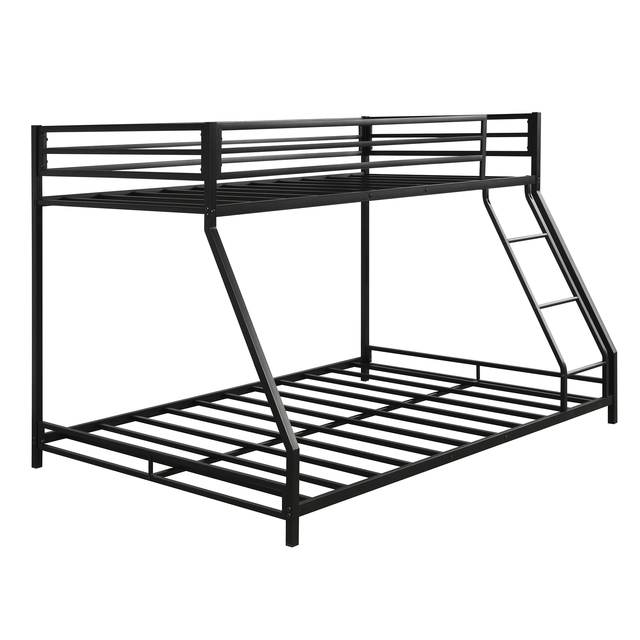 Metal Floor Bunkbed - Twin Over Full Bunk Bed  4