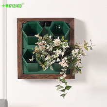 Wall-mounted Hydroponic Flower Pots Home Stackable Punch-free Potted Shopping Mall Green Plant Wall Pot Decoration