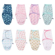 Baby Swaddle Wrap Towel Velcro Newborn Infants Cartoon Printing Sleeping Bag