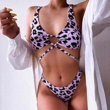 Комплект женского бикини с низкой талией купальный костюм вырезами