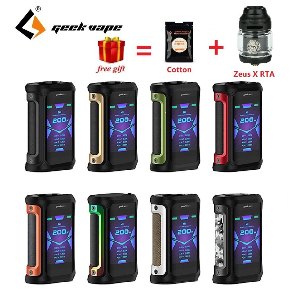 Gratuit Zeus X RTA & coton!! 200W Geekvape Aegis X Box Mod alimenté par double batterie 18650 Max 200W e-cig Vape Mod Box vs Aegis solo