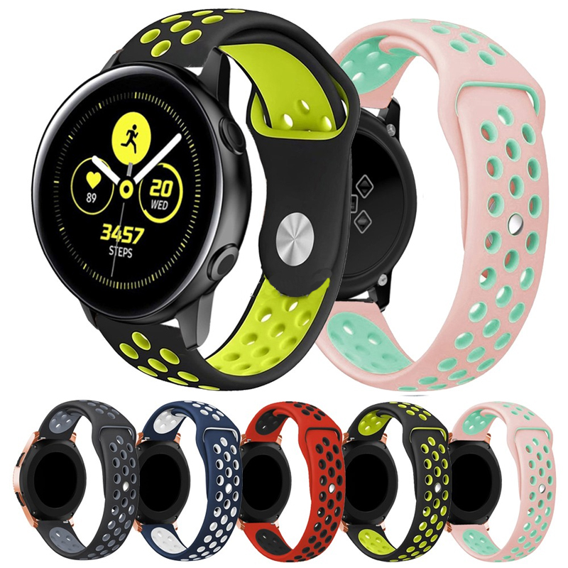 22mm 20mm Watch Strap For Samsung Galaxy Watch Active 46mm Band Gear S3 Frontier 42mm Huawei Watch Gt Strap Silicone Watchband