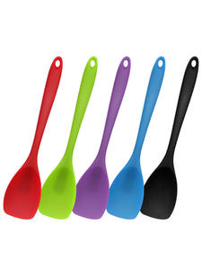 Mosodo Heat Resistant Silicon Spoon Spatula Kitchen Bakeware Utensil Handle Scraper Stirring