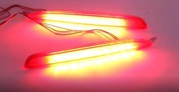 Qirun Led rear bumper light assembly driving light brake light flowing turn signal for mazda 6 2006-15