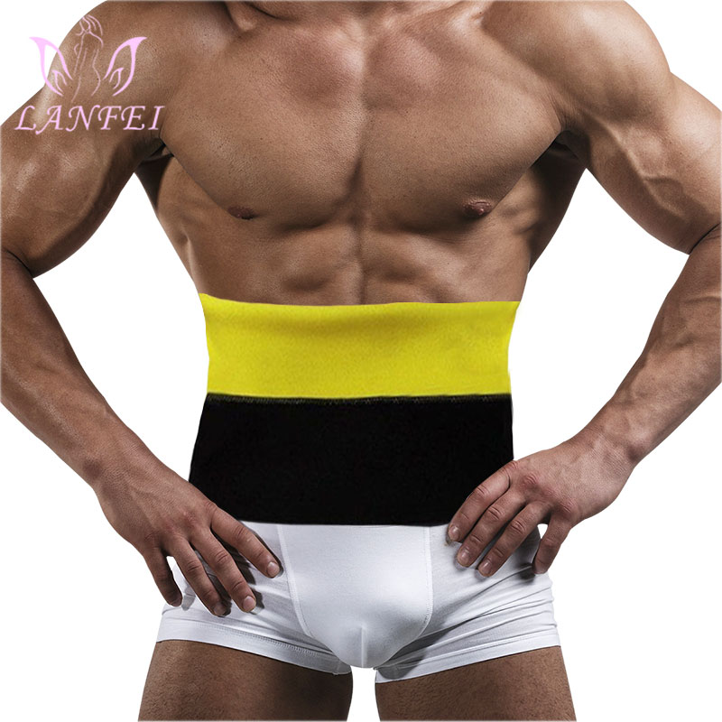 LANFEI Waist Trainer Body Slimming Shaper Thermo Neoprene Waist Support Belt For Men Modeling Strap Corset Underwear Weight Loss