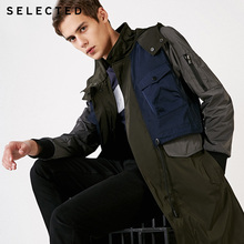 SELECTED mens Mid-length Contrasting Hooded Trench Coat | 4191OM523