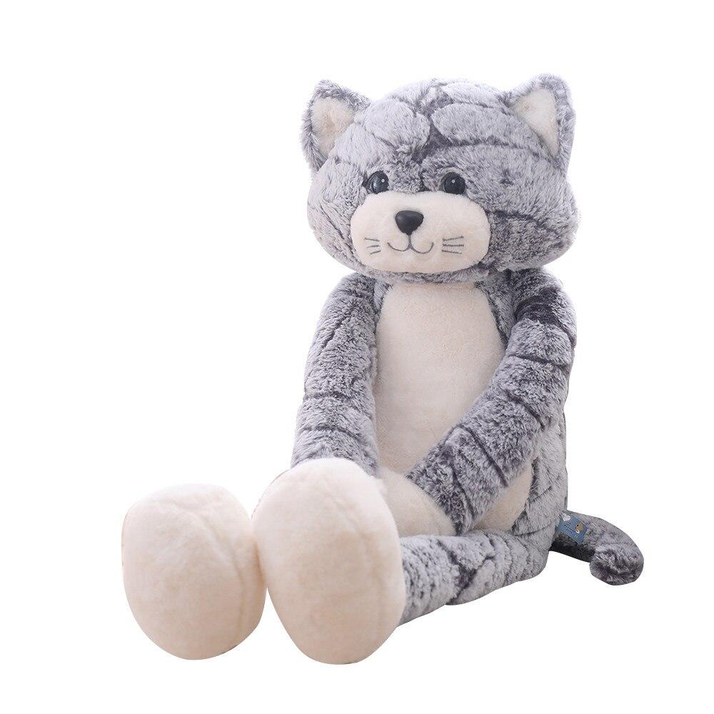 Высокое качество 50/90 см Плюшевая и мягкая серая черная Розовая кошка плюшевые игрушки прекрасный аниме подарок на день рождения для детей к...