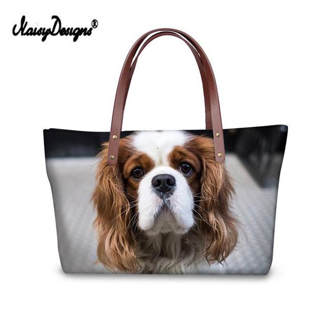 My Daily Women Tote Shoulder Bag Cavalier King Charles Spaniel Dog Handbag Large