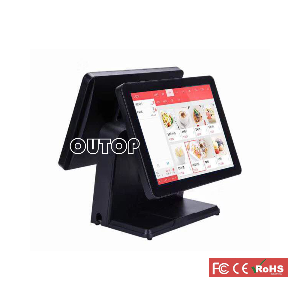 i3 POS System 15 Touch Screen Resistive Resturant All In One Machine Cash Register Tablet PC Cash Register Machines