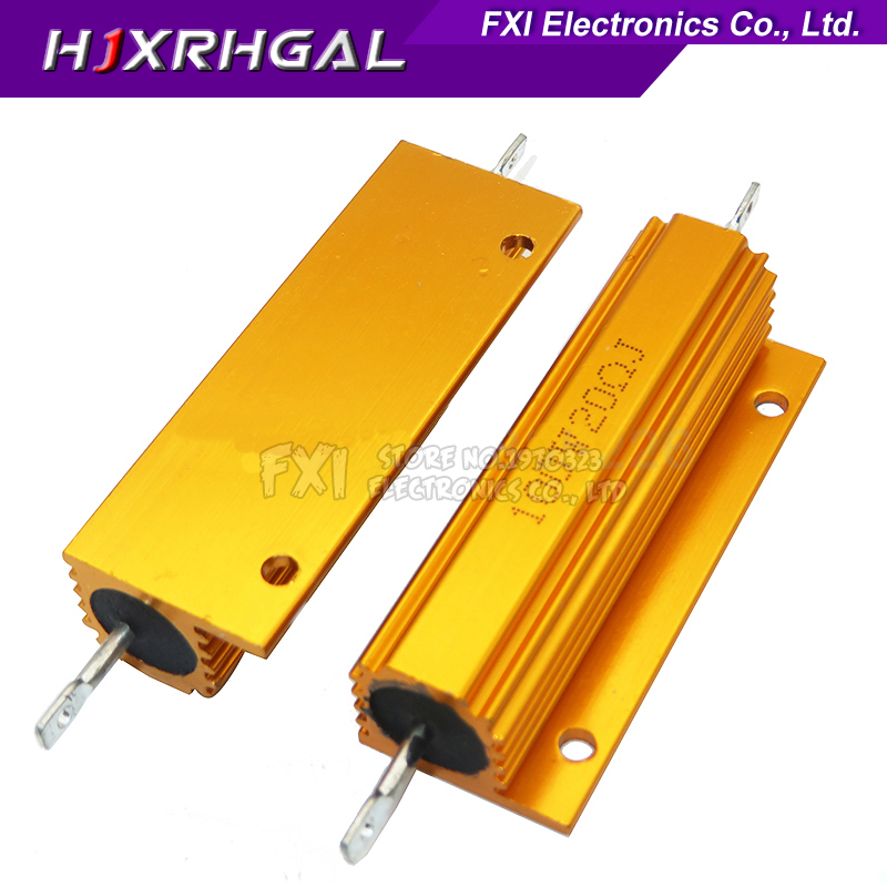 RX24 100W Aluminum Power Metal Shell Case Wirewound Resistor 0.01 ~ 100K 0.1 0.5 1 1.5 2 6 8 10 20 100 150 200 300 1K 10K Ohm
