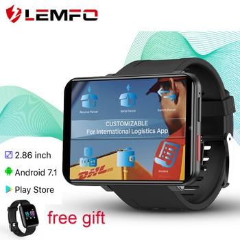 LEMFO LEMT 4G Smart Watch 2.86 inch Big Screen Android 7.1 3G RAM 32G ROM LTE 4G Sim Camera GPS WIFI Heart Rate 2700mAH Battery