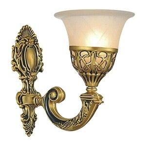 Image 2 - אירופאי בציר מנורת קיר רטרו Led קיר אור סלון בית E27 פמוט מנורות מתכת בר מסדרון תאורה מקורה קישוט