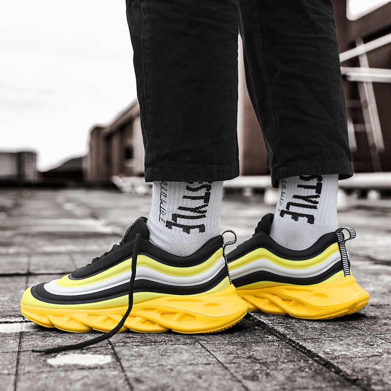 Heiße Neue Regenbogen Schuhe Männer Stretch Casual männer Turnschuhe Mans Schuhe Outdoor Atmungs Tenis Masculino Zapatillas Hombre