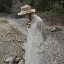 imakokoni original design light green thin doll collar dress simple Japanese female 202952