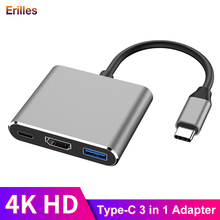 for Macbook Pro/Air USB Splitter Type-C To HDMI 4K Adapter USB-c Power Supply Charger 3.0 Port Computer Laptop Accessories