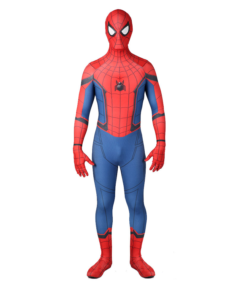 Homecoming Cosplay Costume 3D Printed Homecoming Spandex Suit Halloween Costume Bodysuit for Adult/Kids Plus size