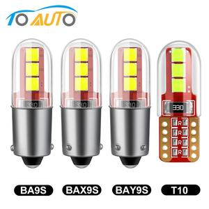 T10 BA9S T4W LED BAX9S H21W BAY9s W5W 194 168 LED Bulbs 3030 Chips Canbus Error Free Auto Lamp 12V Car Interior Map Trunk Light(China)