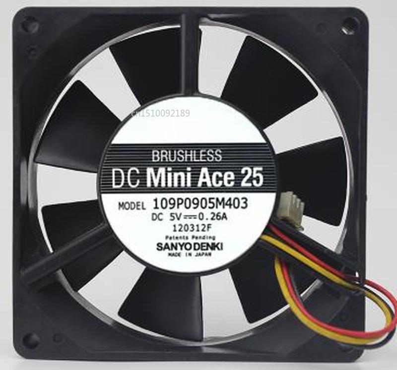 For 109P0905M403 DC 5V 0.26A 90x90x25mm Server Cooler Fan Free Shipping