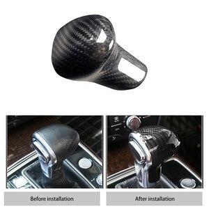Image 4 - New Carbon Fiber Shift Knob Head Cover for Audi Old Models A4/A5/A6/A7/Q3/Q5/Q7 Gear Shifter Lever Stick