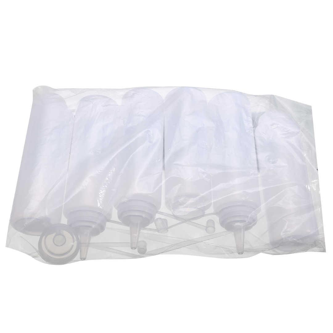 6 قطعة البلاستيك الشفاف LDPE زجاحة ضغط 8 أوقية/240 مللي الخردل الكاتشب موزع أنبوب للمنزل أدوات مطبخ