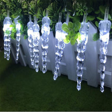 Christmas Garland LED Curtain Icicle String Light 10m 100Leds Indoor Drop Party Garden Stage Outdoor Decorative