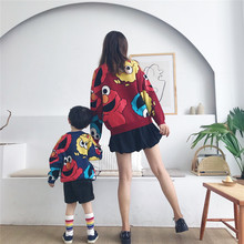 Autumn Winter New Kids Clothes Parents'and Children's Clothes  European and American Style Kids Sweaters  pullover 2017 brand new girl dress winter kids clothes european and american style leaf pettern design for girls clothes 3 8y