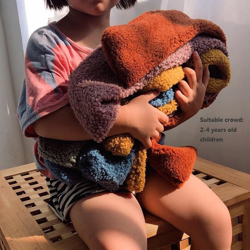 Осенне-зимний детский шарф из овечьей шерсти, вязаный детский шарф, кашемировый палантин, теплые милые яркие цветные шарфы для детей