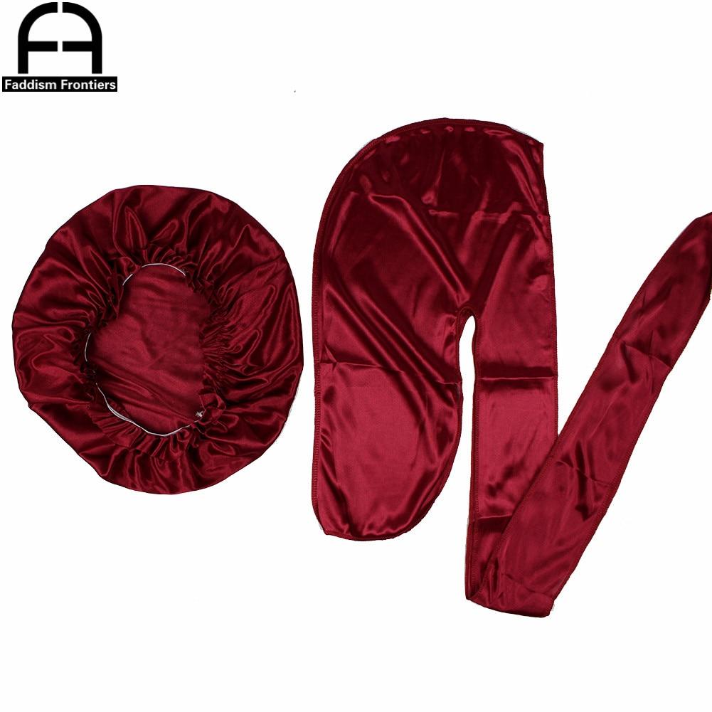 Unisex Men Silk Durag Match Silky Bonnet For Women Silky Durags Bandanas For Men Turban Hat Long Tail Do Durag Waves Cap