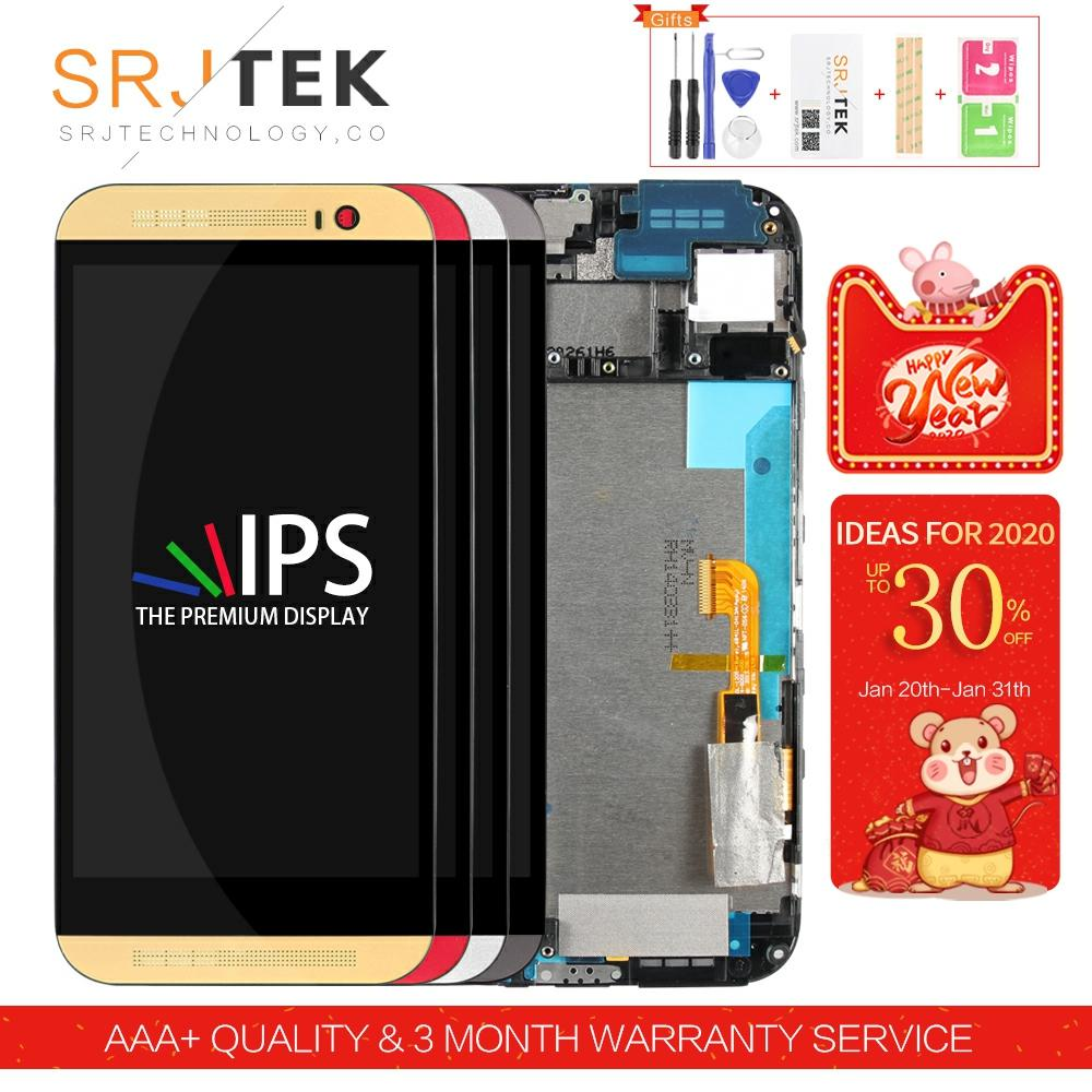 5.0inch For HTC M8 One Screen For HTC M8 One LCD 831c Touch Digitizer Sensor Glass Assembly Frame For HTC One M8 Display 1/2 SIM