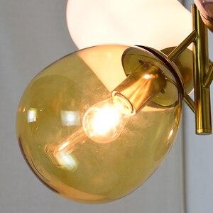 Image 5 - Modern hanging ceiling lamps four color glass lampshade E27 pendant lights for Restaurant kitchen bedroom lighting