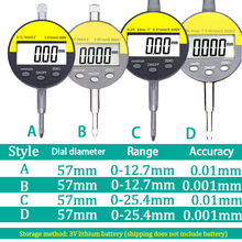 Hight Precision Dial Indicator Gauge Met 0.001mm Electronic Micrometer Metric / Inch 0-12.7mm /25.4mm Digital Micrometer