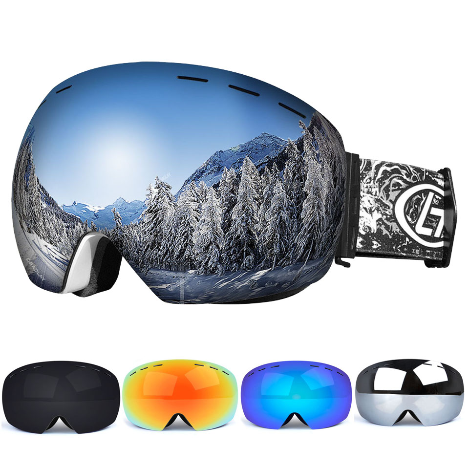 Snow Snowboard Glasses Anti-Fog Spherical Lens Big Ski Goggles For Men Women Youth Skiing Eyewear Helmet UV400 Protection