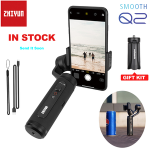 Image 1 - Zhiyun Smooth Q2 Truly Pocket Size Portable 3 Axis Smartphone Handheld Gimbal for iPhone 11 Pro Max XS X 8P 8 Samsung S10 S9 S8