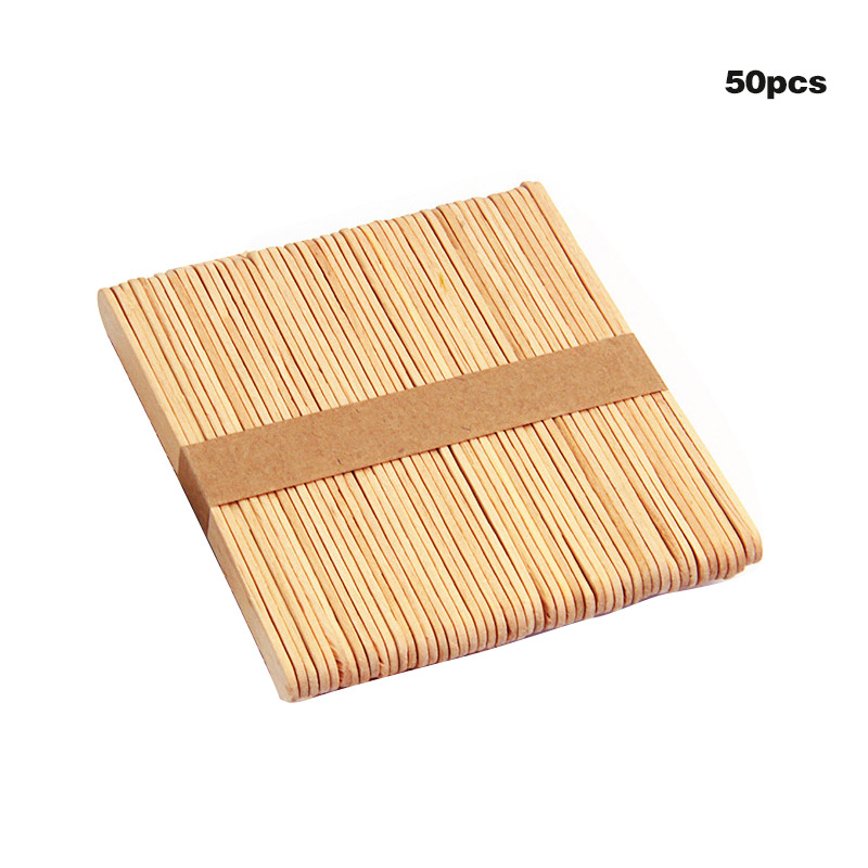 50pcs Colored Wood Craft Sticks Wooden Ice Cream Sticks Kids DIY Hand Crafts Lolly Cake Tools High Quality