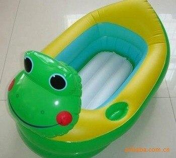 Pvc inflable de forma Animal del baño del bebé bañera bebé piscina inflable pato bañera bebé productos bebé bañera baño del bebé