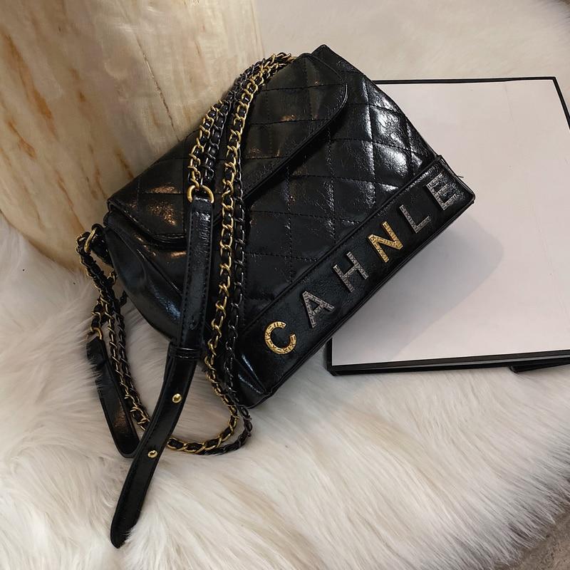 Internet Celebrity Lady Bag 2020 Popular New Korean Straddle Bag Diamond Lattice Chain Fashion Bag
