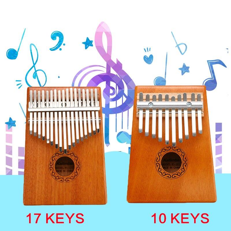 Scoutdoor 10/17 Keys Kalimba Thumb Piano High Quality Wood Kalimba Mbira Thumb Paino Musical Instrument For Sale