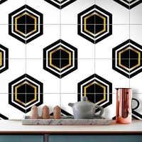 10 pièces Stickers Muraux Étanche Auto adhésif Papier Peint étanche Pour Salle De Bain Salon Cuisinière Décor de Toile De Fond