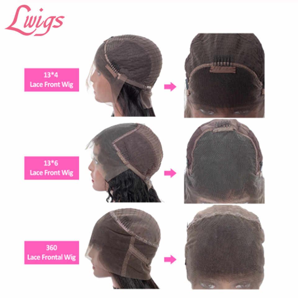 Blond kolor ombre faliste koronki przodu włosów ludzkich peruki wysokiej 180% gęstości brazylijski 360 peruki typu Lace Front faliste koronki przodu peruki Lwigs