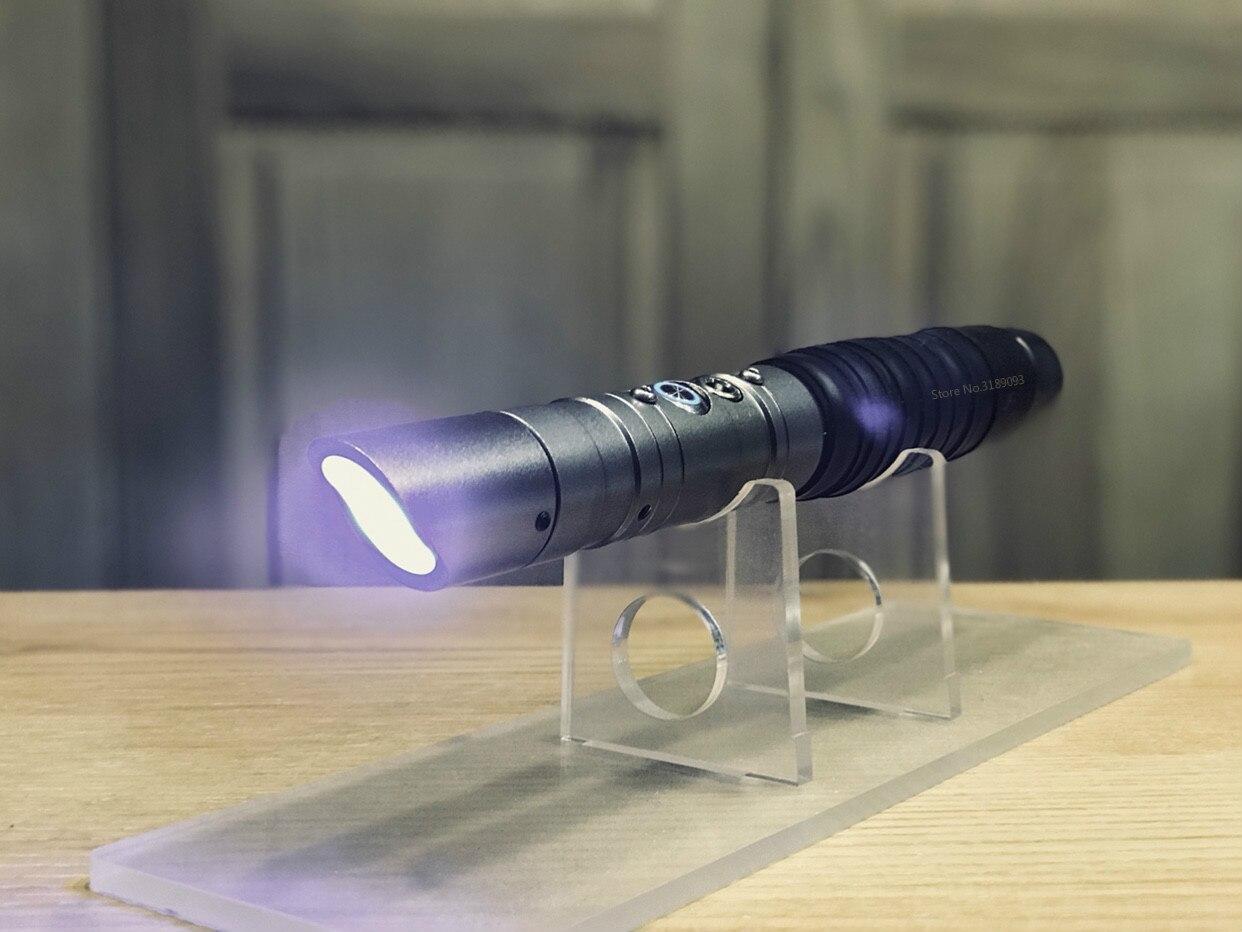 Nero Wars Lightsaber Spada del Metallo Espadaes Laser 2019 Cosplay di Boy Toy Lampeggiante Bambini Luce Esterna Giocattoli Creativi - 6
