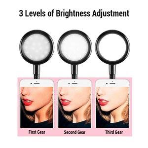 Image 2 - Universel Selfie Lumière avec Portable Flexible Support Pour Téléphone Support Paresseux Bureau Lampe Lumière LED POUR LE flux En Direct Bureau Cuisine