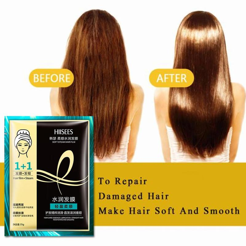 1 Pcs Automatic Heating Steam Hair Mask Keratin Repair Dry Damaged Replenishment Anti Hair Loss Moisturizing Nourishing Oil