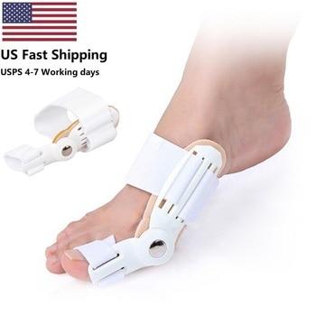USA 2Pcs Toe Protector Feet Care Pedicure Tool Bunion Hallux Valgus Corrector Orthopedic Supplies Big Toe Splint Straightener